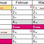 HHP Süd Kalender 2017 Corporate Design